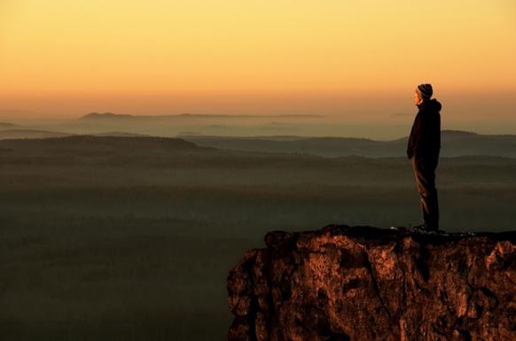 Drážďansá vyhlídka západ slunce