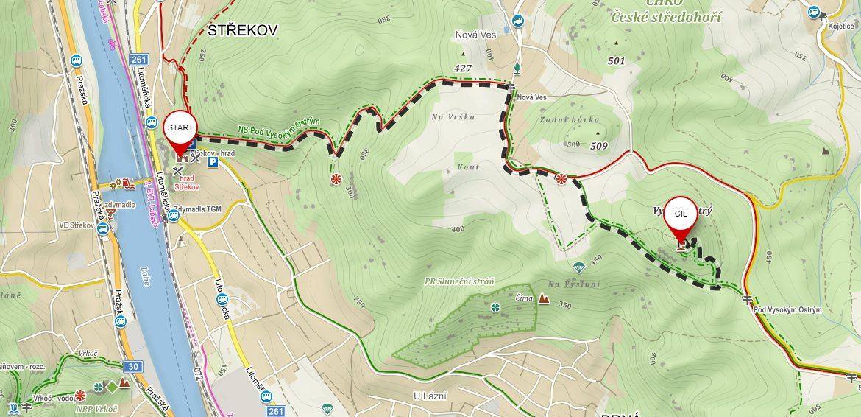 Výlet ze Střekova na vrch Vysoký Ostrý