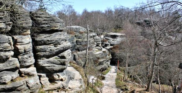 Pohled na Volské kameny